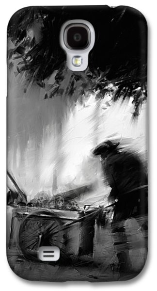 Creepy Digital Galaxy S4 Cases - Trashman Galaxy S4 Case by H James Hoff