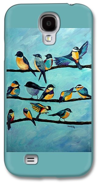 Group Of Birds Paintings Galaxy S4 Cases - Travelers Rest Galaxy S4 Case by Julie Brugh Riffey