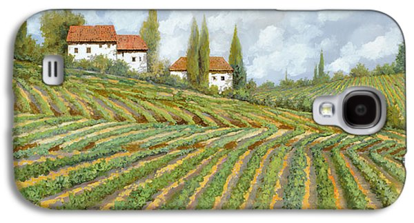 White House Galaxy S4 Cases - Tre Case Bianche Nella Vigna Galaxy S4 Case by Guido Borelli