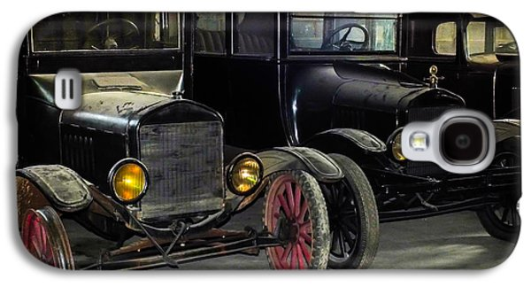 Antique Automobiles Galaxy S4 Cases - TREADS of TIME Galaxy S4 Case by Karen Wiles
