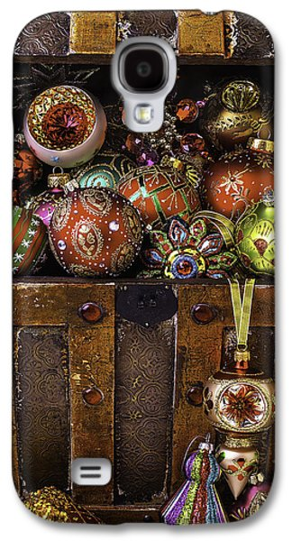 Treasure Box With Christmas Ornaments Galaxy S4 Case by Garry Gay
