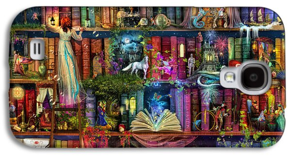 Recently Sold -  - Digital Galaxy S4 Cases - Fairytale Treasure Hunt Book Shelf Galaxy S4 Case by Aimee Stewart
