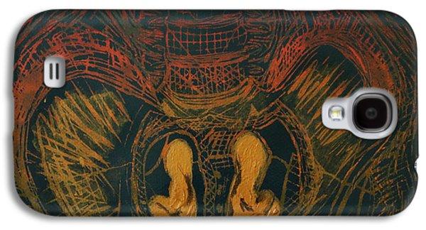 Lino Mixed Media Galaxy S4 Cases - Treasure Galaxy S4 Case by Javari Cameron