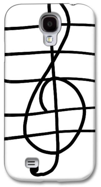 Treble Clef Galaxy S4 Case by Jada Johnson
