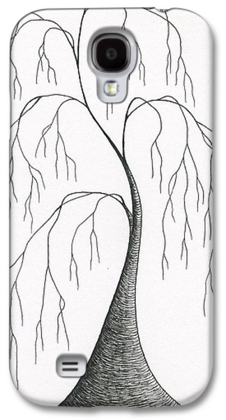 Weeping Drawings Galaxy S4 Cases - Melancholy Galaxy S4 Case by Chris Bishop