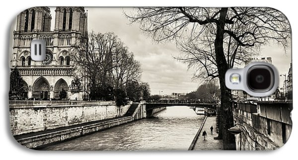 Recently Sold -  - Landmarks Photographs Galaxy S4 Cases - Tree Along the Seine Galaxy S4 Case by John Rizzuto