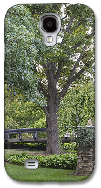 The Nature Center Galaxy S4 Cases - Tree and bridge at Wharton Center Galaxy S4 Case by John McGraw