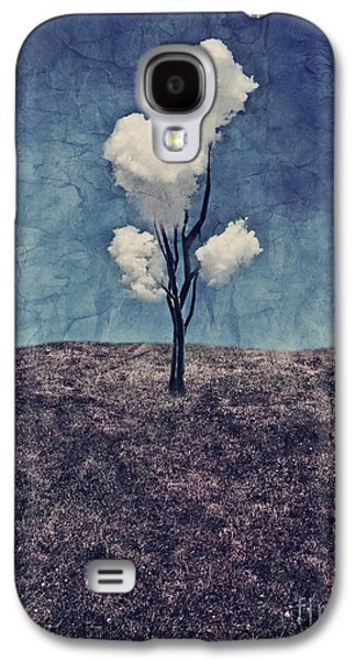 Surreal Landscape Galaxy S4 Cases - Tree Clouds 01d2 Galaxy S4 Case by Aimelle