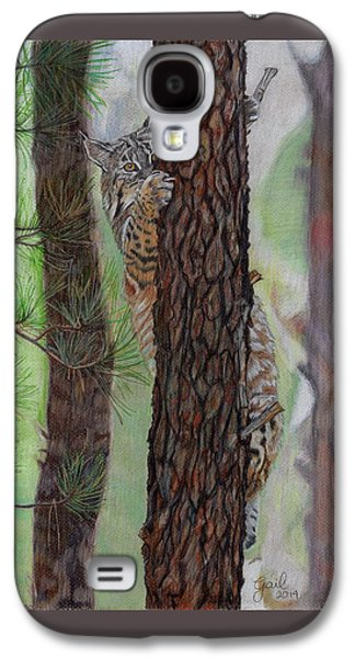 Bobcats Drawings Galaxy S4 Cases - Tree Hugger Galaxy S4 Case by Gail Seufferlein