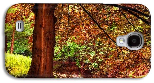 Garden Scene Galaxy S4 Cases - Tree in the Park. De Haar Castle. Utrecht  Galaxy S4 Case by Jenny Rainbow