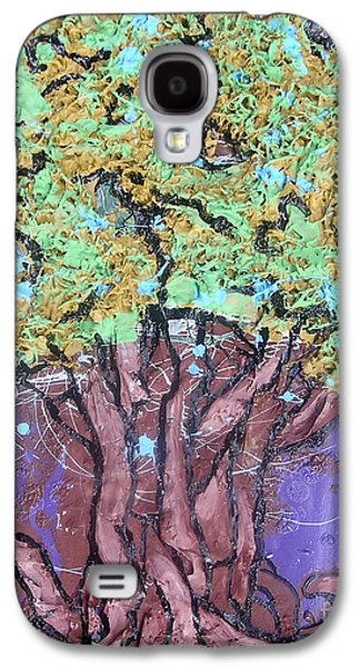 The Trees Mixed Media Galaxy S4 Cases - Tree In Three Dee Galaxy S4 Case by Genevieve Esson