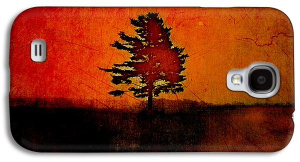 Orange Digital Art Galaxy S4 Cases - Tree Journey - sp22at02 Galaxy S4 Case by Variance Collections