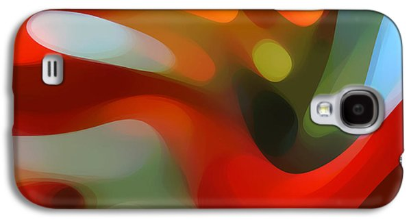 Colorful Abstract Digital Galaxy S4 Cases - Tree Light 4 Galaxy S4 Case by Amy Vangsgard