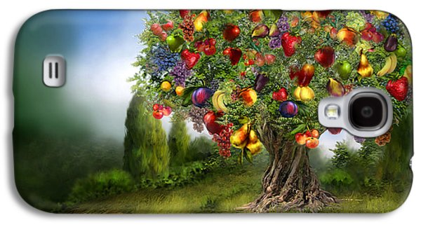 Fruit Tree Art Galaxy S4 Cases - Tree Of Abundance Galaxy S4 Case by Carol Cavalaris