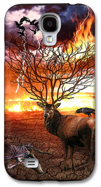 Posters On Digital Galaxy S4 Cases - Tree of Death Galaxy S4 Case by Marian Voicu