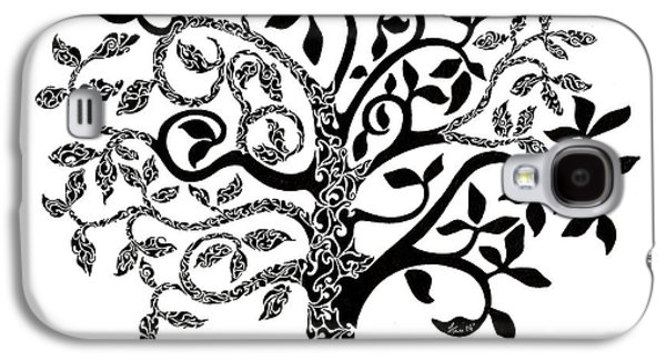 Abstracted Galaxy S4 Cases - Tree of Life Galaxy S4 Case by Anushree Santhosh