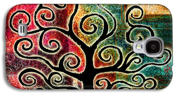 Abstract Canvas Art Galaxy S4 Cases - Tree Of Life Galaxy S4 Case by Jaison Cianelli