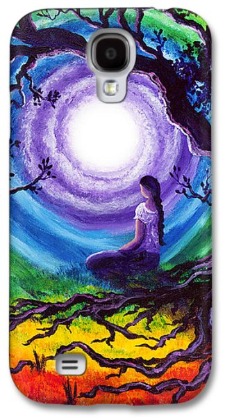 Rainbow Galaxy S4 Cases - Tree of Life Meditation Galaxy S4 Case by Laura Iverson