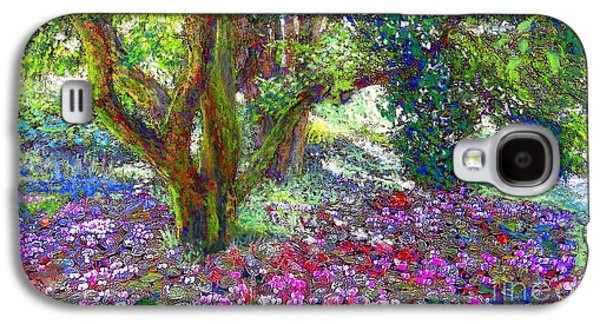 Field Paintings Galaxy S4 Cases - Tree of Tranquillity Galaxy S4 Case by Jane Small