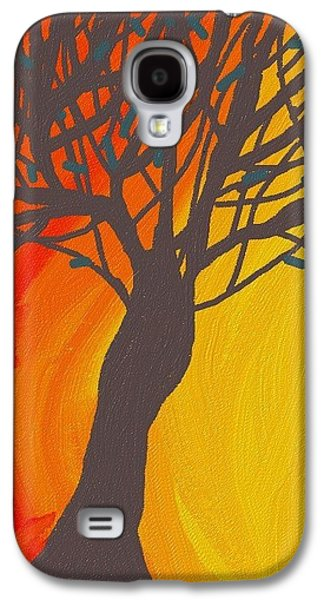 Abstract Digital Digital Art Galaxy S4 Cases - Tree On Fire Galaxy S4 Case by Abstract Digital