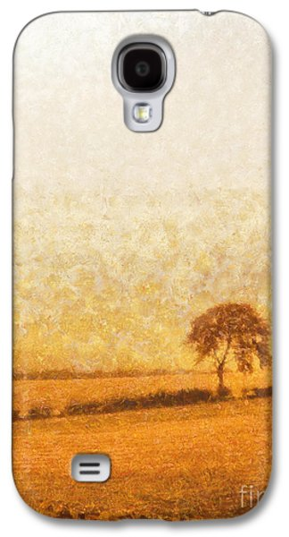 Tree Art Galaxy S4 Cases - Tree on hill at dusk Galaxy S4 Case by Pixel  Chimp