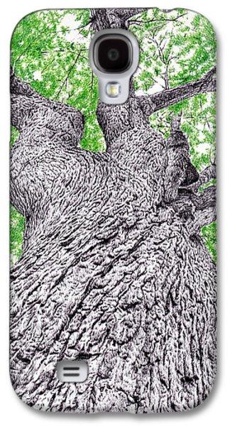 Photorealistic Galaxy S4 Cases - Tree pen drawing 4 Galaxy S4 Case by Heidi Vormer