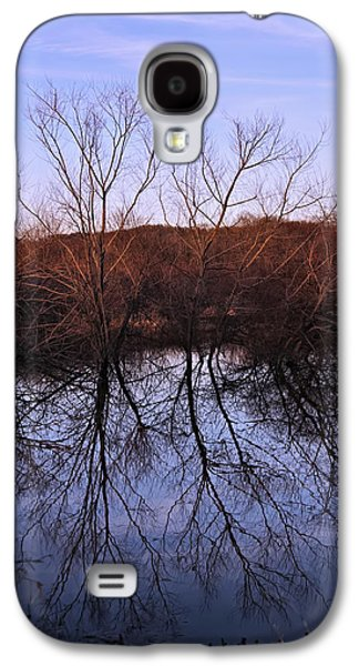 Landscape Posters Galaxy S4 Cases - tree reflection on Wv pond Galaxy S4 Case by Chris Flees