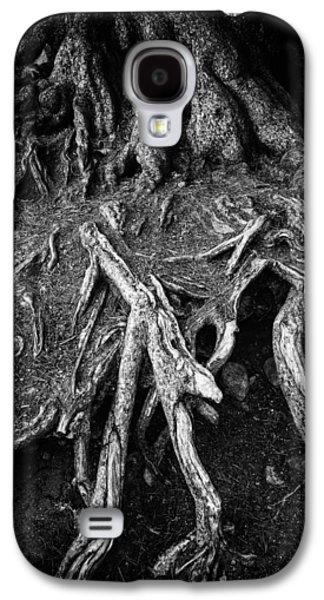 Tree Roots Black And White Galaxy S4 Case by Matthias Hauser