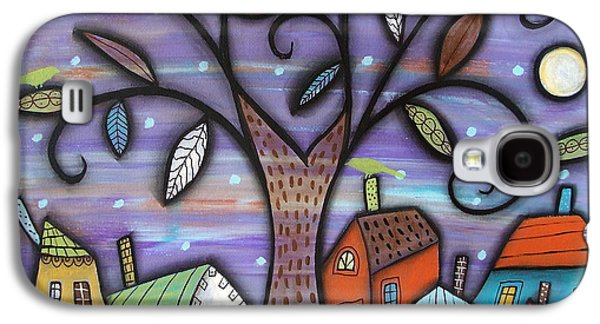 Abstract Landscape Galaxy S4 Cases - Tree Town Galaxy S4 Case by Karla Gerard