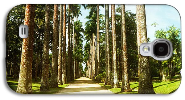 Garden Scene Galaxy S4 Cases - Trees Both Sides Of A Garden Path Galaxy S4 Case by Panoramic Images