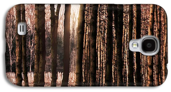 Creepy Digital Art Galaxy S4 Cases - Trees Gathering Galaxy S4 Case by Wim Lanclus