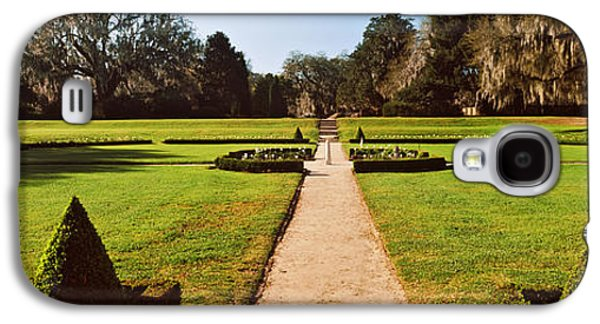 Garden Scene Galaxy S4 Cases - Trees In A Garden, Middleton Place Galaxy S4 Case by Panoramic Images