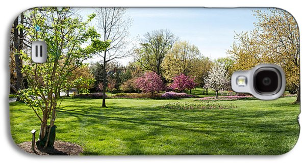 Garden Scene Galaxy S4 Cases - Trees In A Garden, Sherwood Gardens Galaxy S4 Case by Panoramic Images