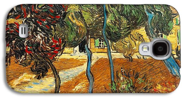 Arles Galaxy S4 Cases - Trees in the Asylum Gardens Galaxy S4 Case by Vincent Van Gogh