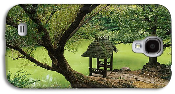 Pond In Park Galaxy S4 Cases - Trees Near A Pond, Central Park Galaxy S4 Case by Panoramic Images