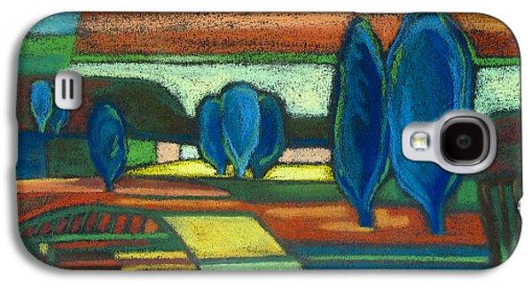 Matting Paintings Galaxy S4 Cases - Trees of Blue Galaxy S4 Case by Gergana Valkova