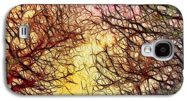 Abstract Digital Mixed Media Galaxy S4 Cases - Trees of the Four Seasons Galaxy S4 Case by Kaye Menner