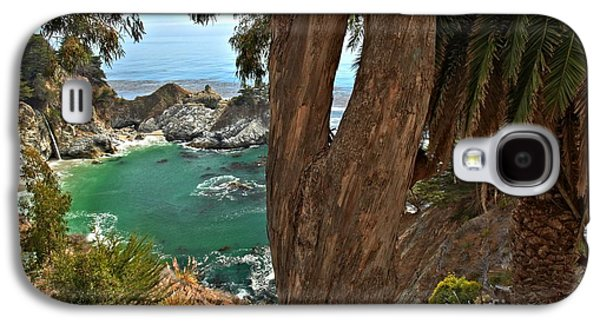Big Sur Ca Galaxy S4 Cases - Trees Over McWay Falls Galaxy S4 Case by Adam Jewell