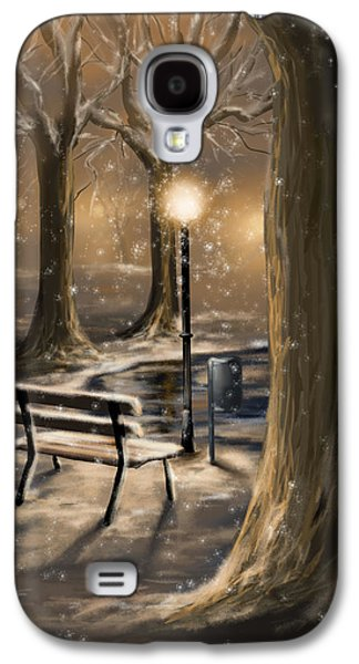 Snowy Digital Art Galaxy S4 Cases - Trees Galaxy S4 Case by Veronica Minozzi