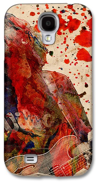 Rock N Roll Paintings Galaxy S4 Cases - Trey Anastasio - Phish  Galaxy S4 Case by Ryan RockChromatic