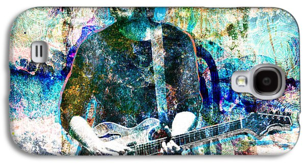 Rock N Roll Paintings Galaxy S4 Cases - Trey Anastasio - Phish Original Painting Print Galaxy S4 Case by Ryan RockChromatic