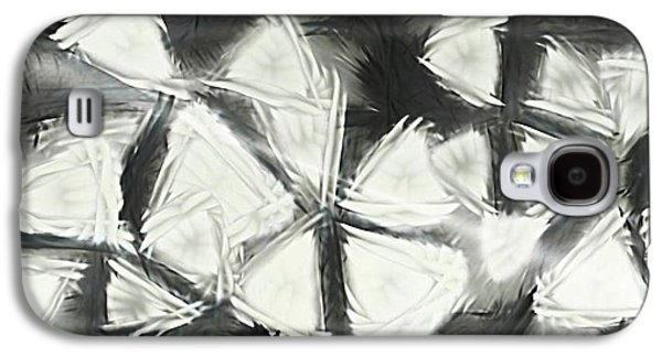 Abstract Collage Drawings Galaxy S4 Cases - Triangles Galaxy S4 Case by Victoria Fischer