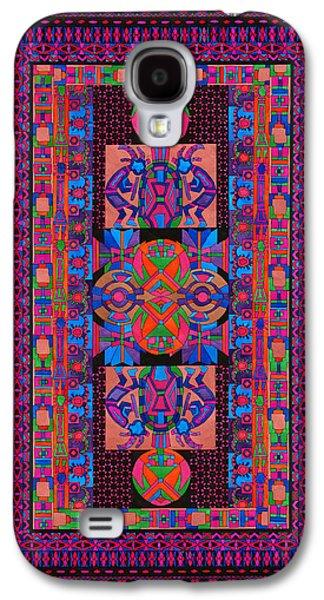 Americans Tapestries - Textiles Galaxy S4 Cases - Tribal Display Galaxy S4 Case by Lawrence Chvotzkin