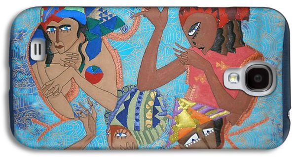 African-americans Tapestries - Textiles Galaxy S4 Cases - Tribal Galaxy S4 Case by Linda Egland