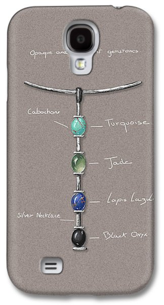 Zen Jewelry Galaxy S4 Cases - Tribal sylver Necklace details Galaxy S4 Case by Marie Esther NC