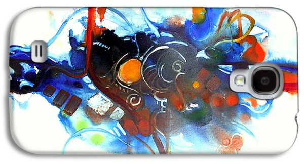 Curvilinear Paintings Galaxy S4 Cases - Tribute to Chihuly Galaxy S4 Case by Patricia Mayhew Hamm