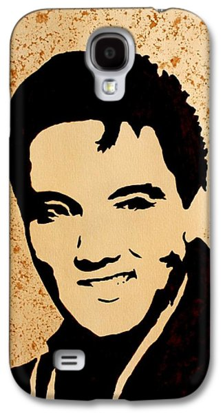 Tribute To Elvis Presley Galaxy S4 Case by Georgeta  Blanaru