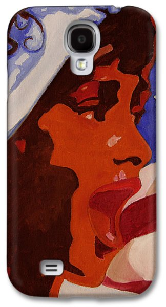 African-american Galaxy S4 Cases - Tribute to Whitney Houston Galaxy S4 Case by Xueling Zou