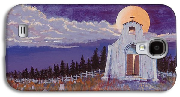 Headstones Paintings Galaxy S4 Cases - Trick or Treat Galaxy S4 Case by Jerry McElroy