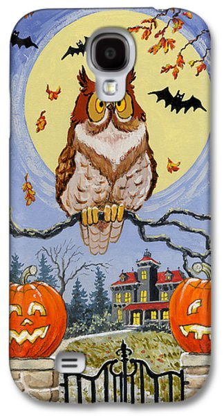 Haunted House Paintings Galaxy S4 Cases - Trick or Treat Street Galaxy S4 Case by Richard De Wolfe